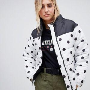 Asos Polka Dot Puffer Jacket